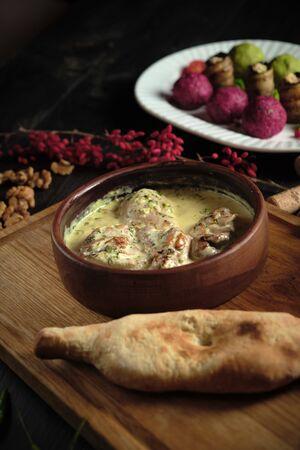 Sicivi and appetizer balls of vegetables . catering menu Standard-Bild