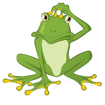 frog illustration: Confused Frog