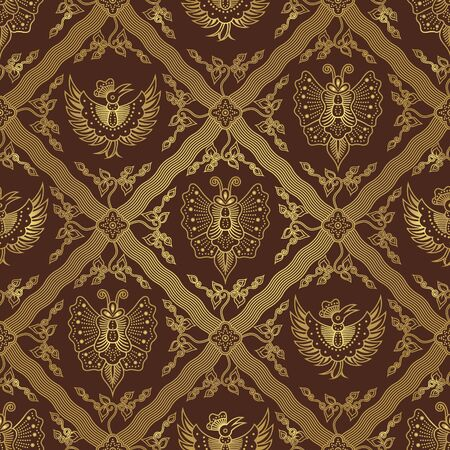 java: Seamless Animal Batik Pattern