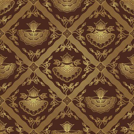 Seamless Floral Batik Pattern Vector