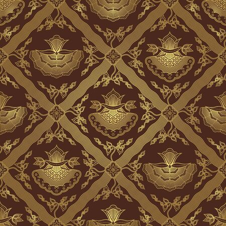 Seamless Floral Batik Pattern