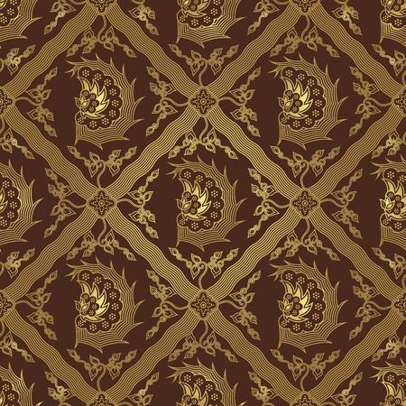 Seamless Wing Batik Pattern Vector