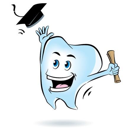 Tooth Graduation Stock Vector - 7866638