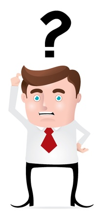 Confused Businessman Vector
