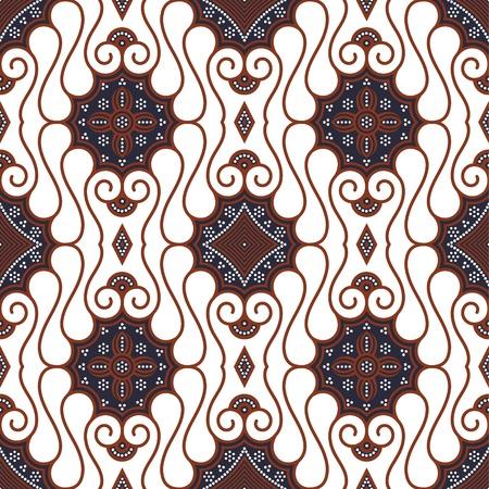 batik: Patron de Batik javanais transparente Illustration