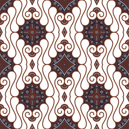 batik: Seamless Javanese Batik Pattern Illustration
