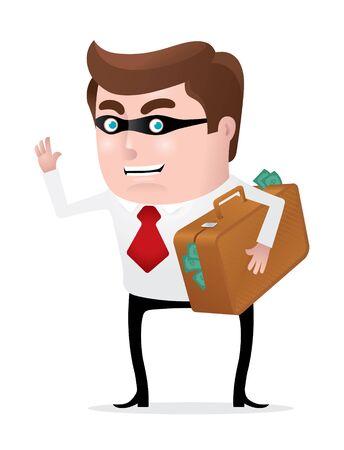Stealing Money Stock Vector - 9590969