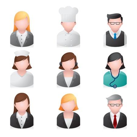 headset business: Icone web - professionale di persone Vettoriali