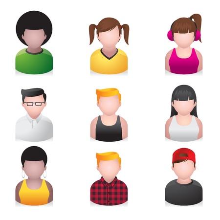 jovenes en grupo: Iconos - la gente joven