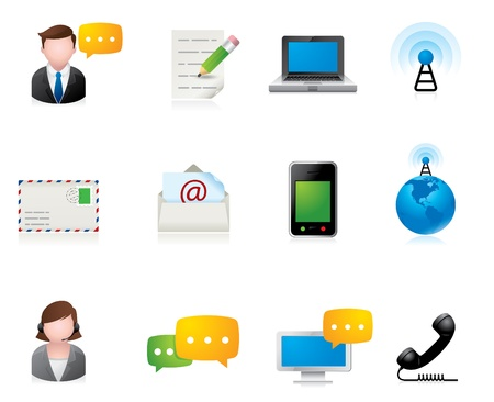 email lists: Web Icons - Communication