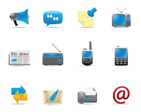 web icons communication: Web Icons - Communication 2 Illustration