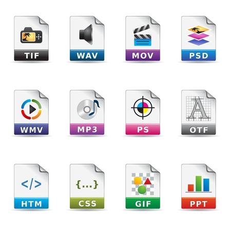 hoja de calculo: Iconos Web - Tipos de archivos 2