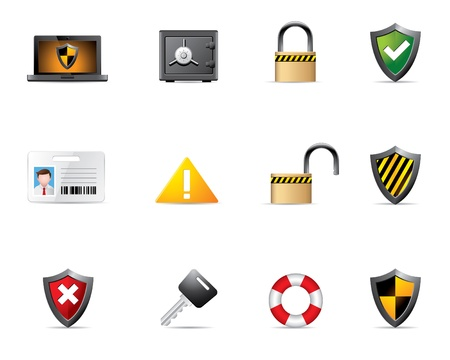 Web Icons - Security Stock Vector - 10414697