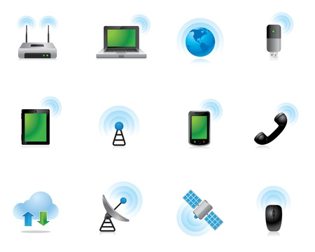 network router: Web Icons - Wireless World