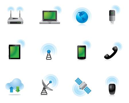 wireless internet: Web Icons - Wireless World
