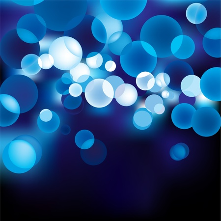 clipart street light: Blue Defocused Light