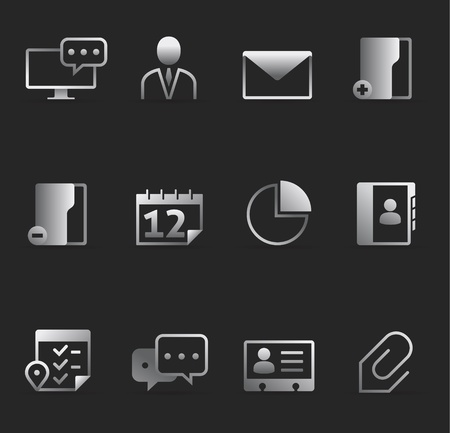 Dark Icons - Group collaboration Vector