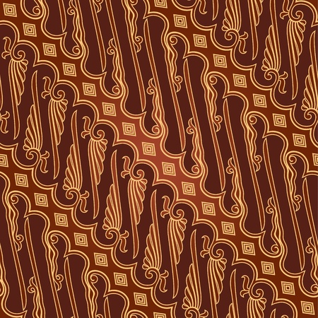 batik: Seamless Batik Parang Mod�le 2 Illustration