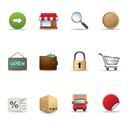 Web Icons - More Ecommerce Stock Vector - 11312011