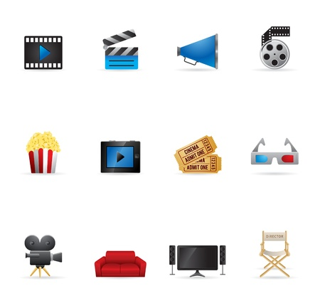 Web Icons - Movies Vector