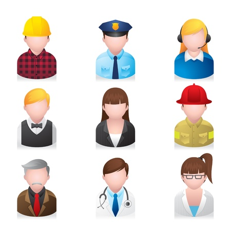 occupations: Web Icons - Professional People 2 Illustration