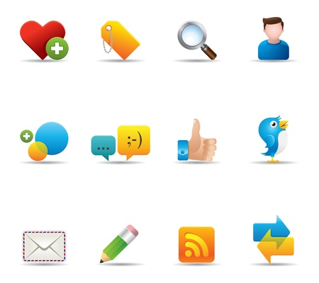 e mail: Web Icons - Social Network