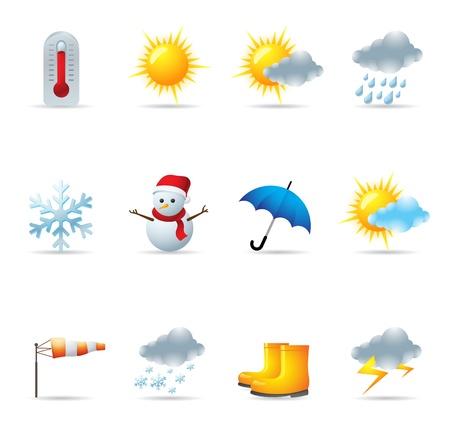 적란운: 웹 아이콘 - 날씨 일러스트