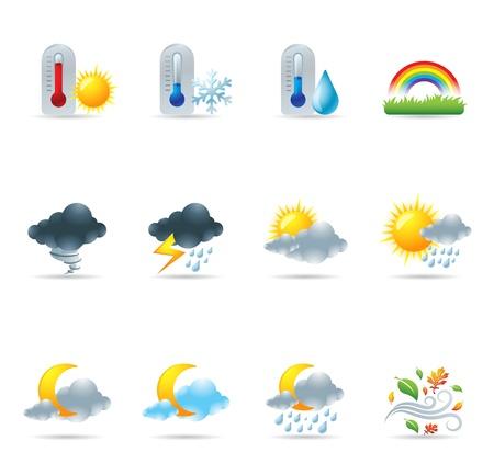 meteo: Icone web - Altri meteo Vettoriali