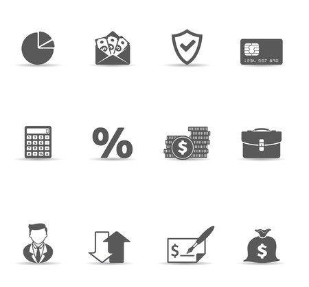 Finance icon set. Font source:  http:www.fontsquirrel.comfontsamaranth   http:www.fontsquirrel.comfontsaller      http:www.fontspace.comdigital-graphics-labsbitwise Vector