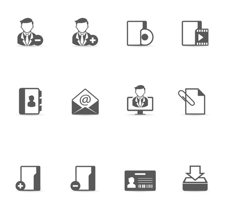 Group collaboration icon set in single color. EPS 10 with transparent shadow placed on separate layer. No spot color used. AI, PDF and transparent PNG of each icon included.
