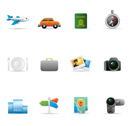 Travel icon set. AI, PDF & hires transparent PNG of each icon included. Font used: Aller (http:www.fontsquirrel.comfontsAller) Amaranth (http:www.fontsquirrel.comfontsAmaranth) Vector