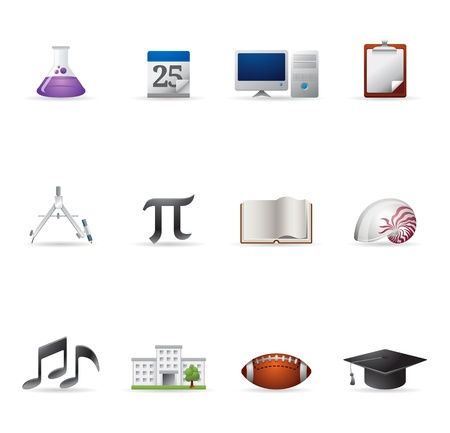 college building: Web Icons - More School Illustration