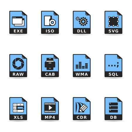 Duotone Icons - Another File Formats Stock Vector - 12495522