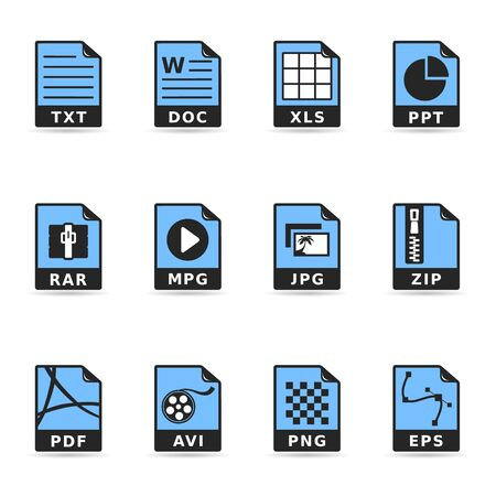 Duotone Icons - File Formats Vector