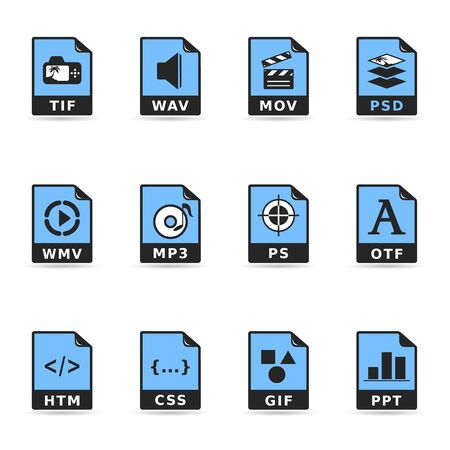 Duotone Icons - More File Formats Stock Vector - 12495474