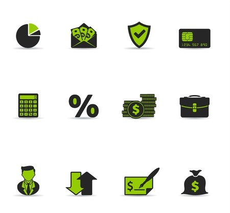 Duotone Icons - More Finance Stock Vector - 12495473