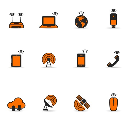 Duotone Icons - Wireless World Vector
