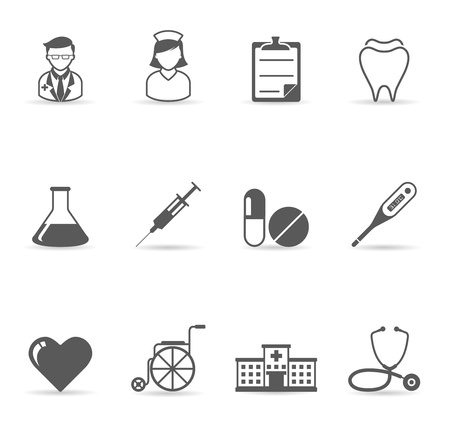 heart medical: Single Color Icons -  Medical Illustration