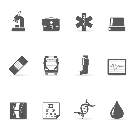 Single Color Icons - More Medical Vector