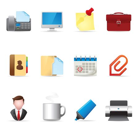 Web Icons - Office Vector