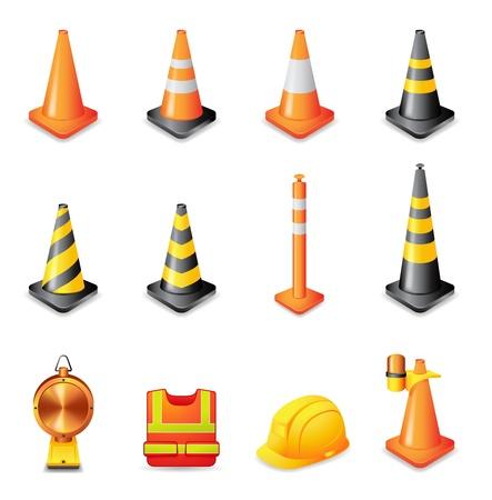 Web Icons - Verkehr Warnzeichen Vektorgrafik