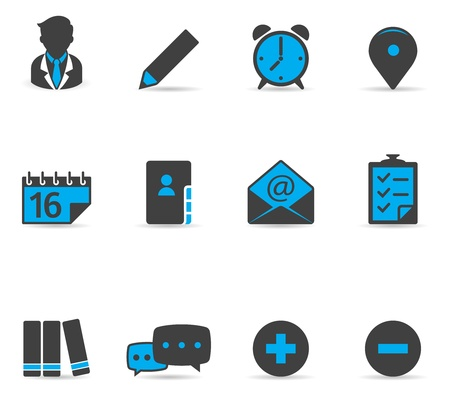 list: Duotone Icons - Collaboration Illustration