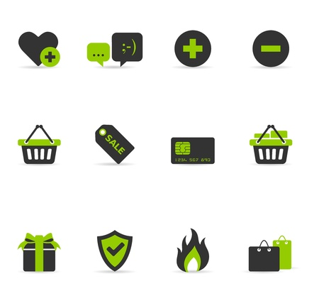Duotone Icons - Ecommerce Stock Vector - 12861610
