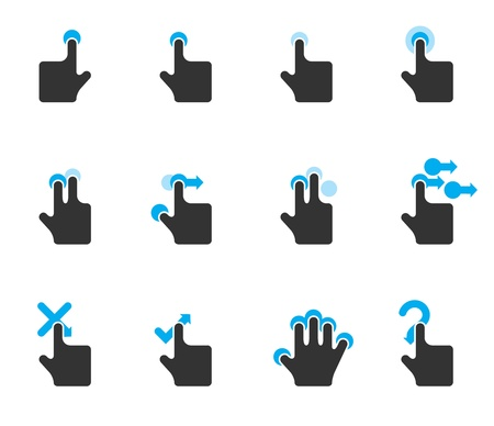 Duotone Color Icons - Touchpad Gestures Stock Vector - 12861613