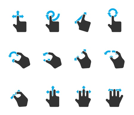 Duotone Color Icons - Trackpad Gestures Vector