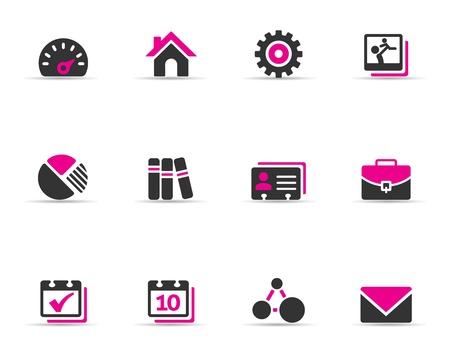 settings: Duotone Color Pictogrammen - Universal Stock Illustratie