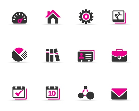 termine: Duotone farbige Symbole - Universal