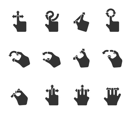 Single Color Icons - Trackpad Gestures Vector