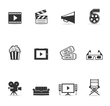 Single Color Icons - Movies Stock Vector - 12861622