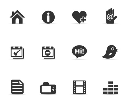Single Color Icons - Personal Portfolio Vector